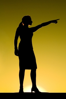 1yy-woman pointing silhouette-PH00389