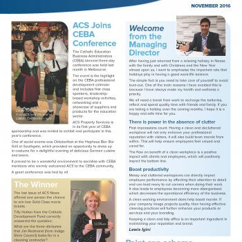Front cover ACS News