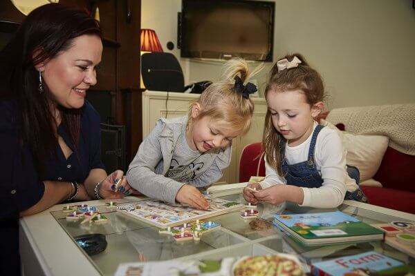 Nanny/educator with children in her care